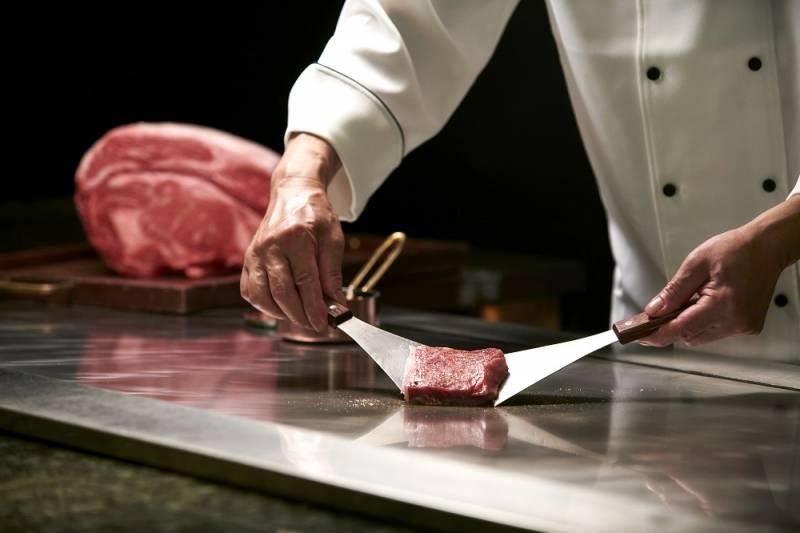 十勝ハーブ牛のステーキ